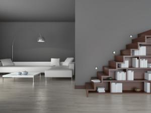 Coole Treppe im Wohnzimmer